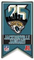 JACKSONVILLE JAGUARS 25TH ANNIVERSARY PIN 1995 - 2019 SEASON NFL FOOTBALL METAL