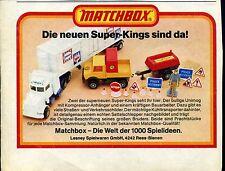 Matchbox-- Die neuen Super Kings sind da --Werbung von 1978--