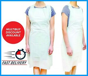 100 -1000 Disposable Aprons Approved Spec PPE Medical Protective Waterproof UK