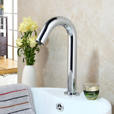 Chrome Bathroom Faucet Automatic Sensor Touchless Commercial Free Hand Mixer Tap