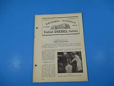 1940's Diesel Training National Schools Lesson #3 20pg Engine Valve Systems M883