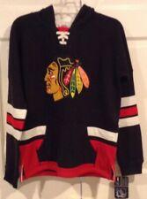 Chicago Blackhawks CCM Black Hoodie Sweatshirt Youth Large L NHL Hockey NWT
