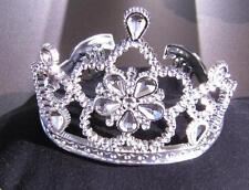 Diadem, Krone Blume, Blüte, silber Kinder, Prinzessin 628