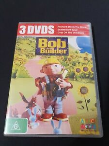 Bob The Builder - DVD Pack Of 3 DISCS -  ABC FOR KIDS  R4  VGC Free Aust Post