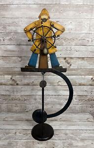 Nautical Helmsman Sailor Teeter Totter Tin Balance Folk Art Toy