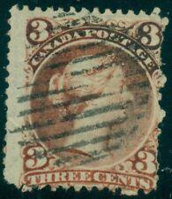 CANADA #33 3¢ bright red LAID PAPER APS Cert RARE, Scott $2,250.00