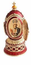 Copie oeuf Fabergé rouge - boite à musique
