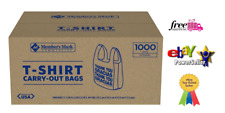 T-Shirt Thank You Plastic Grocery Store Shopping Carry Out Bag 1000ct- *New***