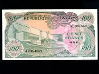 Congo Dem. Rep.:P-1,100 Francs,1963 * Dam * VF+ *