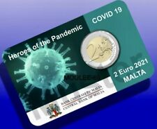 2 Euros Malta 2021 HEROES-PREVENTA-COINCARD  Heroes.