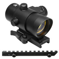 Quick Detach Red Dot Sight w/ Tactical Red Laser + Mount Fits Ruger Ranch Rifle