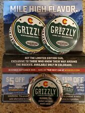 Grizzly Snuff Chewing Tobacco COLORADO STATE limited edition Can w/ Can Holder!