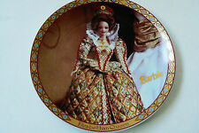 Enesco Barbie Limited Edition # 348/7500 Elizabethan Queen Display Plate 1997