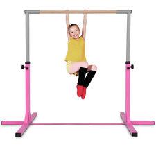 Gymnastics Training Bar Height Adjustable Horizontal Kids Sport Gym Equipment