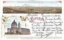 3863) RICORDO DA SUPERGA (TORINO) 2 VEDUTINE. VIAGGIATA.