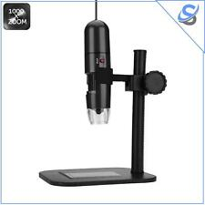 S10 Microscopio Digitale USB Zoom 1000x Sensore CMOS 1.0MP 8 Luci LED 600 Lux