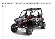 Pro Armor 2012 RZR 4 LE Graphic Kit - Robby Gordon Black/White/Red w/ Cut Outs