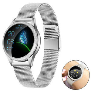 Women's Bluetooth Smart Watch Stainless Steel Wristwatch for Samsung LG Android