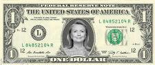 Hillary Clinton (For President 2016) - Dollar Bill - REAL Money