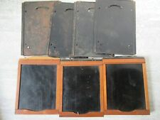 2 Antique Wooden Rochester Optical Co Wooden Metal Camera plates Plus Others