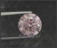 Diamant mit GIA Zertifikat 0.23 ct, in seltener Farbe pink, Brillant unbehandelt