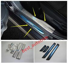 Scuff Plate Door Sill Covers  Trim 8PCS  Blue For 2016-2018 Mitsubishi ASX