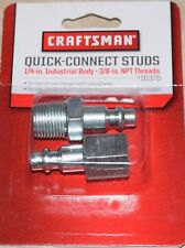 """Craftsman 1/4"""" Industrial Body Air Line Quick Connect Studs 16376 *"""