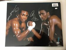 Tommy Hearns and Sugar Ray Leonard Autographed 16x20 Photo PSA/DNA Authenticated