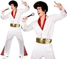 Hommes King De Rock N Roll Costume Déguisement Homme Rockstar Costume Neuf W
