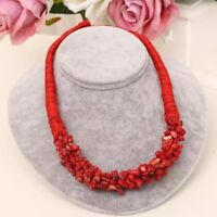 New Ladies handmade Rice Coral vintage Bead jewellery African Statement necklace