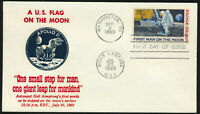C76 Moon Landing Cachet 1969 Dual Cancel UNADDRESSED Thermographed Cachet FDC