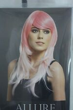 Wig Womans Premium Pink Ombre With Fringe Allure Heat Resistant and stylable