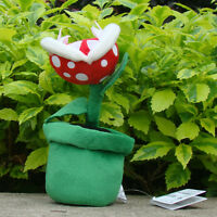 "Nintendo Super Mario Bros Piranha Plant 8"" Plush Toy Lovely Stuffed Animal Doll"