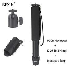 Professional lightweight Portable Travel Camera Monopod with mini ball head&bag