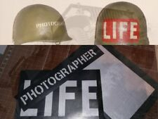 KIT POCHOIRS CASQUE US WW2 PRESS LIFE PHOTOGRAPHER JEEP WILLYS