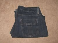 Women's Lee Riders Medium Blue Boot Stretch Jeans in Size 16 35 x 28 Exc Cond