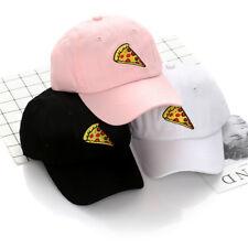 Unisex Embroidery Pizza Cotton Baseball Cap Snapback Korean Hip Hop Flat Hats