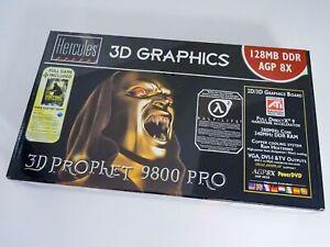 Hercules 3D Prophet 9800 Pro RED EDITION NEU / OVP / NOS ++ rare AGP retro card!