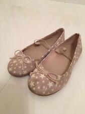Zara Girls Shimmer Gold Glow In The Dark Star Design Chaussures – UK 9 EU 27