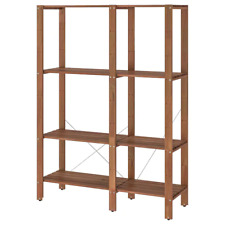 New TORDH Shelving unit, outdoor, brown stained, 120x35x161 cm 693.164.17 IKEA