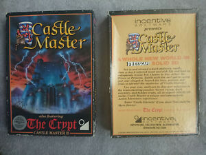 """Castle Master / The Crypt Castle Master 2 / 5.25"""" Floppy Disk Game C64 Commodore"""