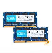 Para Crucial 16GB 8GB 2Rx8 PC3L-12800S Memoria RAM para computadora portátil DDR3-1600Mhz Sodimm!