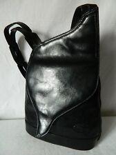 Joli sac bandoulière épaule vintage CUIR véritable noir KEVIM bag TBE