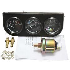 "12V 2.""/52mm Triple Calibrador Kit 3en1 Temperatura Del Aceite Agua Temperatura"