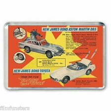 NOSTALGIA CORGI TOY CATALOGUE  JAMES BOND ASTON MARTIN- JUMBO FRIDGE MAGNET