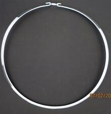 """18"""" 925 Sterling Silver Round W/Clasp Necklace/Choker/Collar/Wire Mexico"""