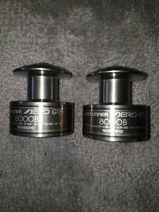 Shimano AREO GTE 8000B spare Spools. X2