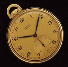 AUTHENTIC 1938' LONGINES 18K SOLID YELLOW GOLD O/F SWISS POCKET WATCH VINTAGE