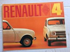 Brochure RENAULT 4 L   - Prospectus French Prospekt  -CA112/47