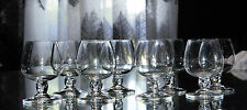 Bolero by Daum FRANCE 6 GLASSES  crystal sherry glass,signed.cristal signé DAUM